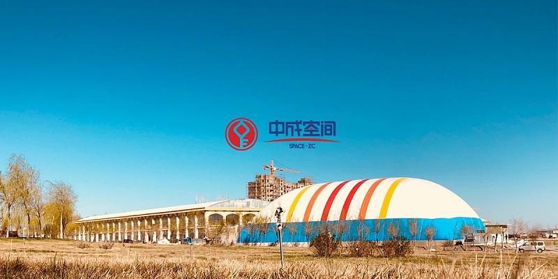 新疆裕民全民健身EPC气膜体育馆封面图