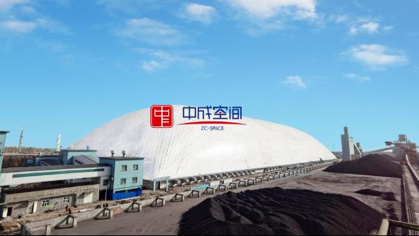 港口、码头等大型堆场逐步建设成气膜封闭式煤棚
