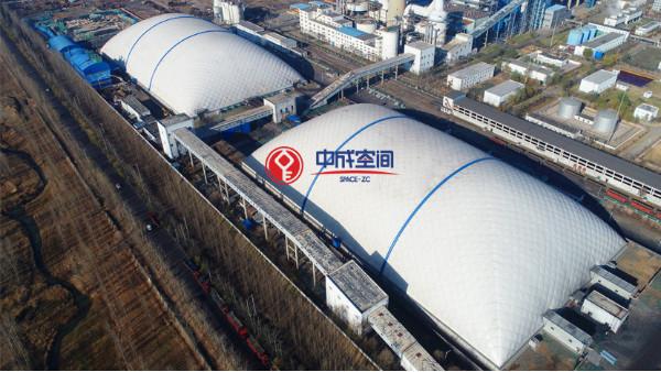 气膜煤场封闭建筑解决煤企粉尘污染环保问题