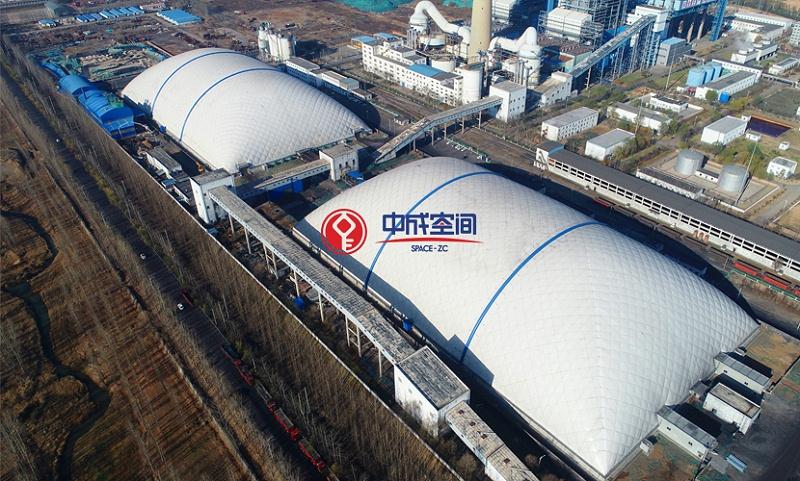山西武乡电厂EPC二期环保气膜封闭项目3