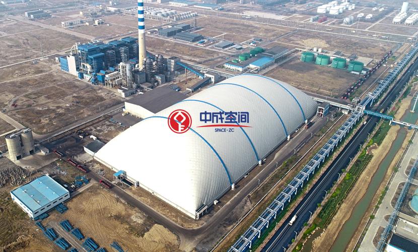 胜利油田山东东营EPC气膜煤场项目2