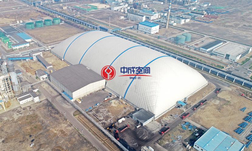 胜利油田山东东营EPC气膜煤场项目3