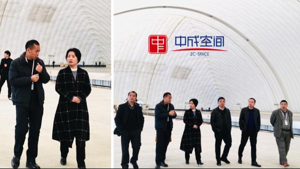 醴陵市谭艳副市长一行莅临中成空间生产基地调研指导