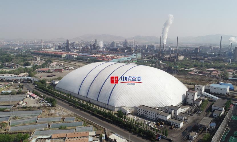 170米大跨度气膜煤棚