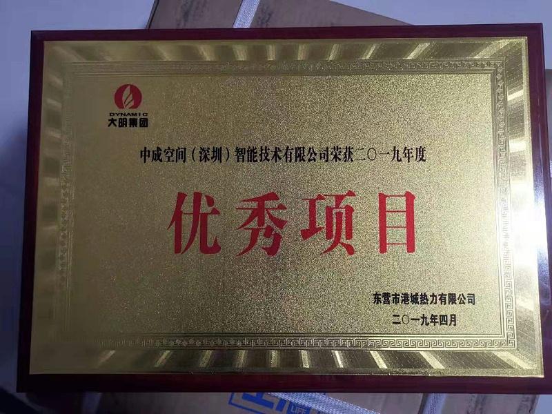 东营项目证书