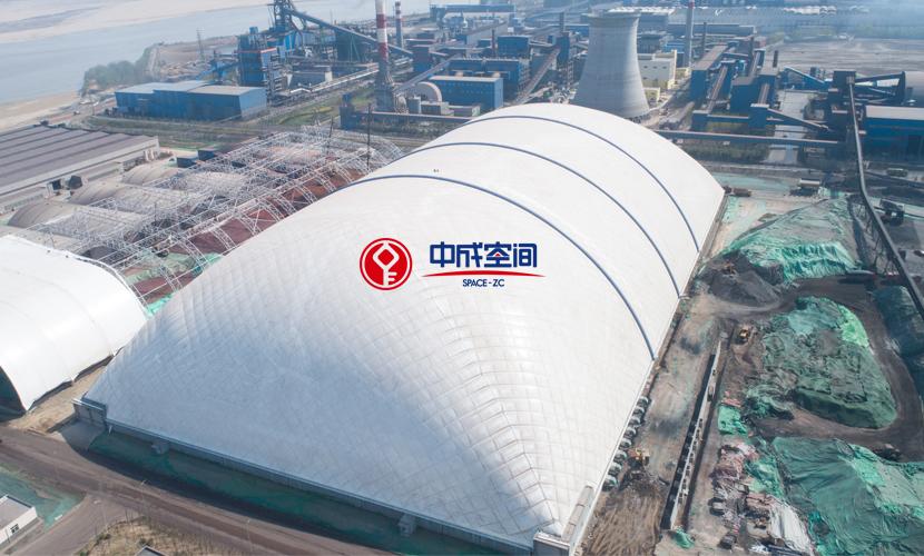 陕西龙钢钢铁冶金行业EPC煤场封闭工程1
