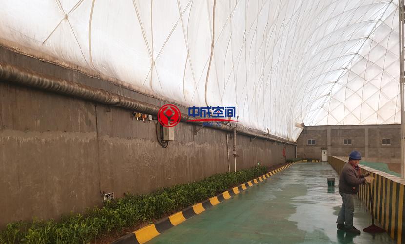陕西龙钢钢铁冶金行业EPC煤场封闭工程2