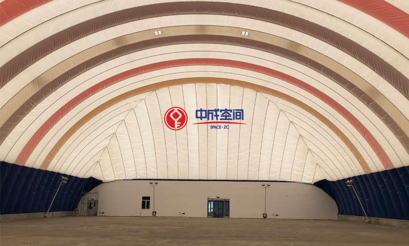 新疆裕民全民健身EPC气膜体育馆2