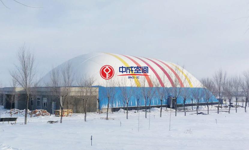 新疆裕民全民健身EPC气膜体育馆3