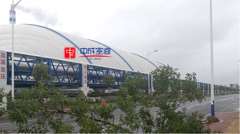 胜利油田东营港城热电厂气膜煤棚2