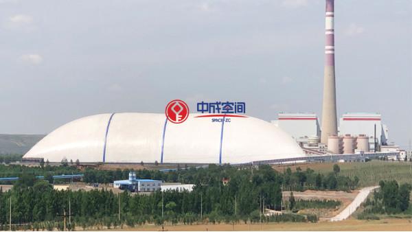 充气膜结构气膜煤棚符合环保要求