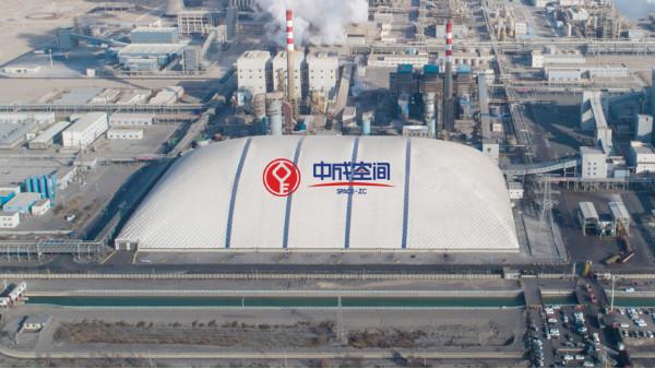 环保封闭气膜煤棚建筑的优点