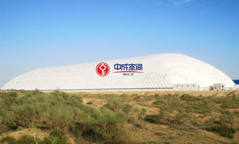 沙漠气膜物流园-内蒙古煤场封闭EPC项目1