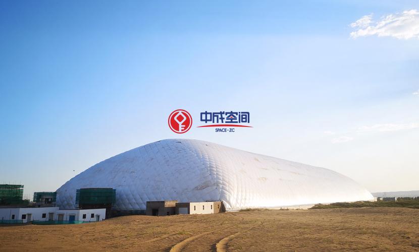 沙漠气膜物流园-内蒙古煤场封闭EPC项目3