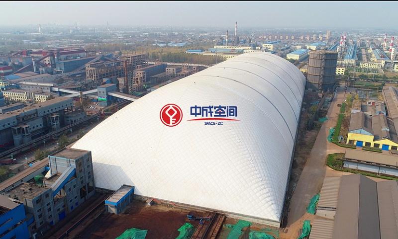 63000㎡单体面积山东临沂EPC封闭式煤场3