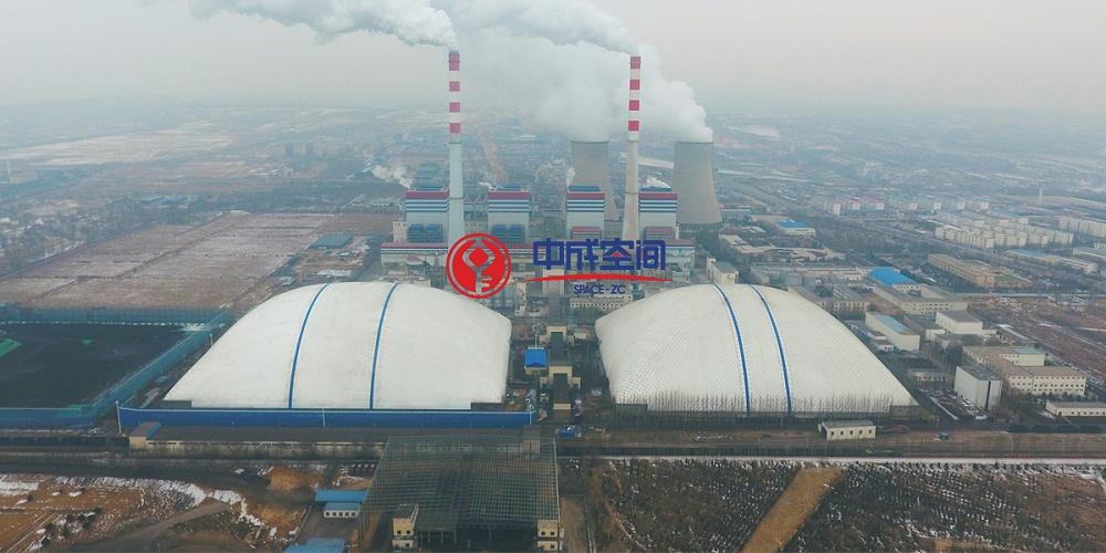 国家能源集团EPC河曲项目-170米跨度双子气膜煤场