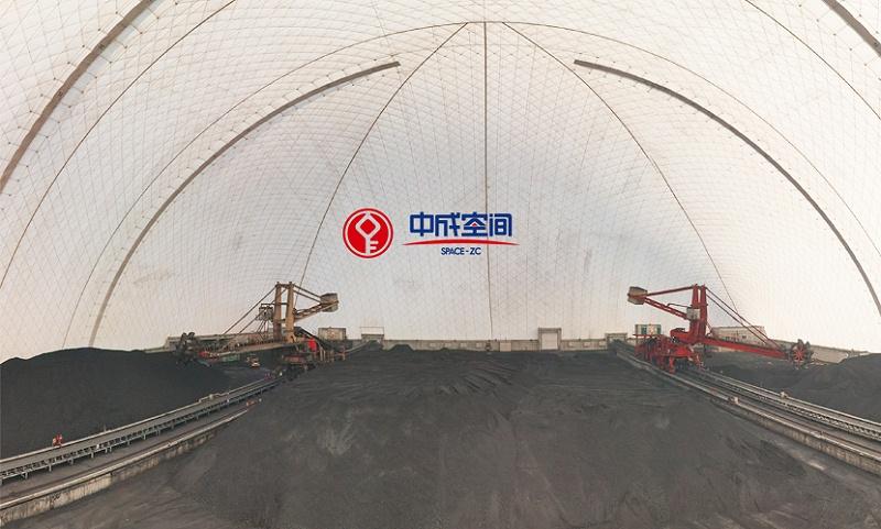 山西王曲电厂国家能源集团180米跨度EPC气膜煤棚3